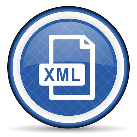 xml: xml file blue icon