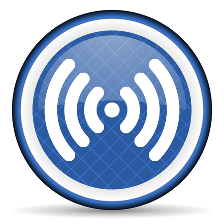 wifi blue icon wireless network sign photo