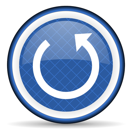 rotate: rotate blue icon reload sign