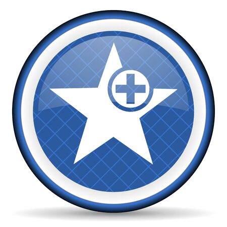 the favourite: star blue icon add favourite sign