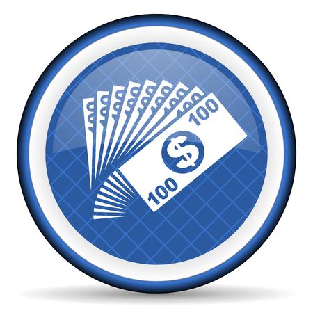 cash money: money blue icon cash symbol