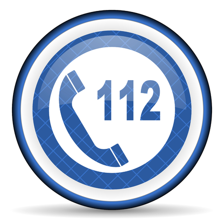 emergency call: emergency call blue icon 112 call sign