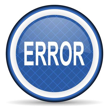 error blue icon photo