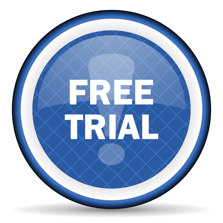free trial blue icon photo