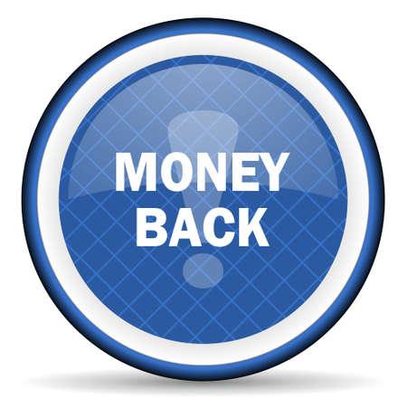 money back: money back blue icon Stock Photo