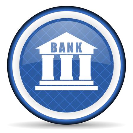 bank blue icon photo