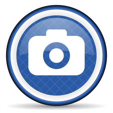 photo camera blue icon photography sign photo