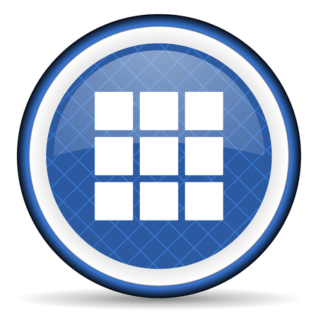 thumbnails: thumbnails grid blue icon gallery sign