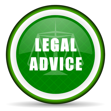 criminal act: legal advice green icon law sign Stock Photo