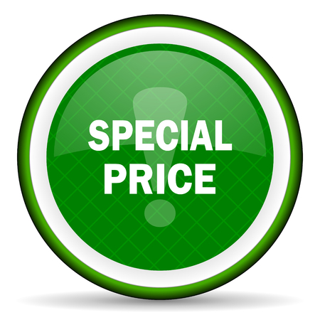 special price: special price green icon Stock Photo