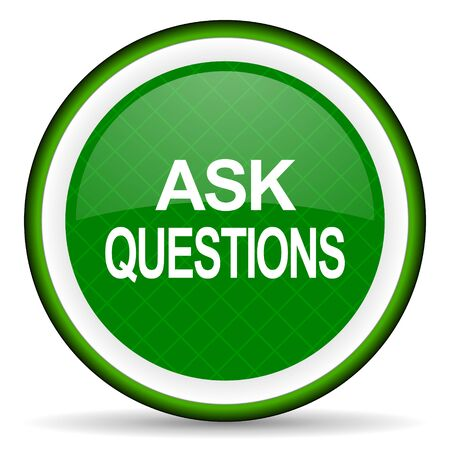 ask: ask questions green icon