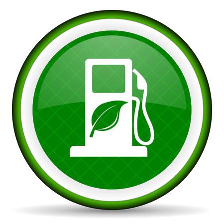 bio fuel: biofuel green icon bio fuel sign