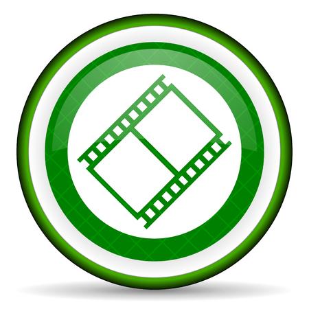 movie sign: pel�cula verde icono de pel�cula s�mbolo de la muestra de cine