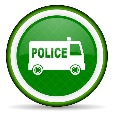 highway patrol: police green icon