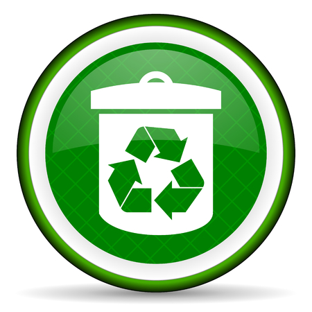 recycle green icon recycling sign photo