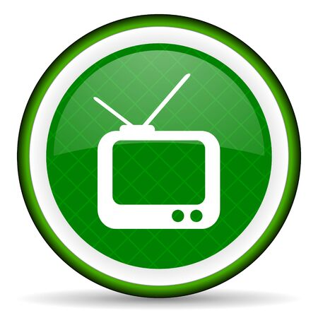 tv green icon television sign photo