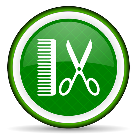 shampooing: barber green icon