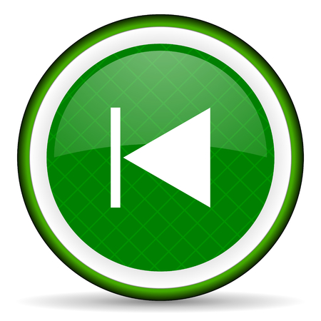 previous: previous green icon