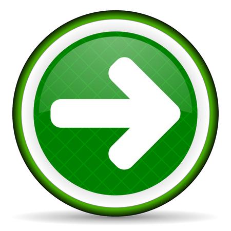 right arrow: right arrow green icon arrow sign