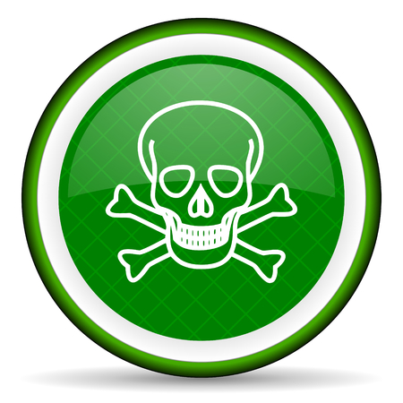 pirating: skull green icon death sign