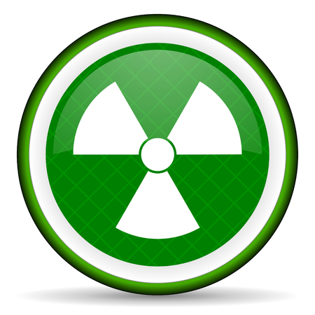 radiation green icon atom sign photo