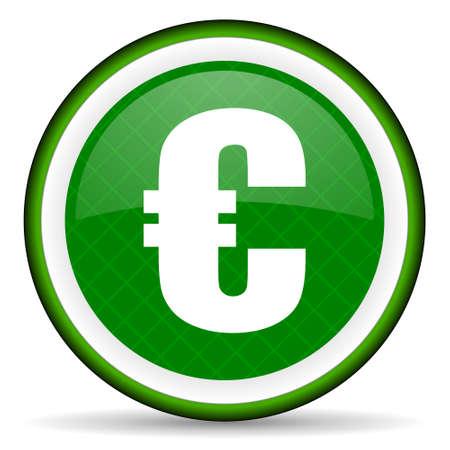euro green icon photo