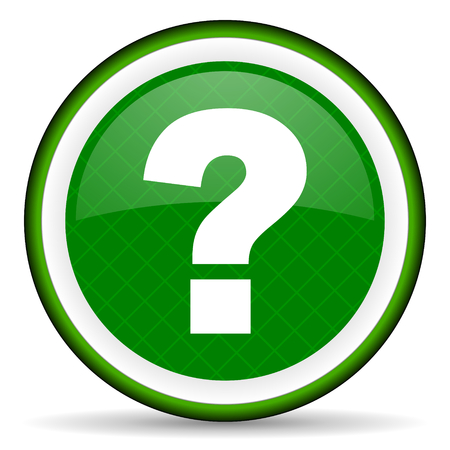 question mark green icon ask sign photo