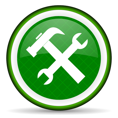 tools green icon service sign photo