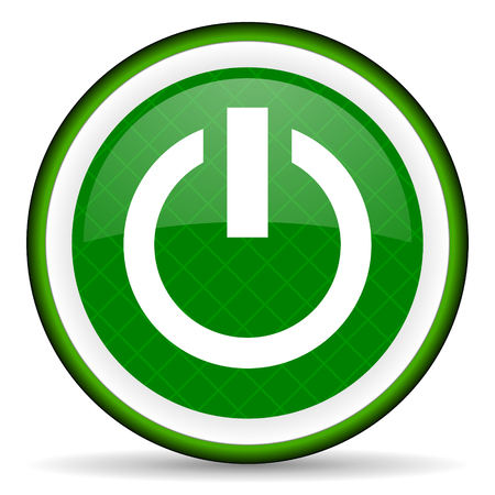 power green icon on off sign photo