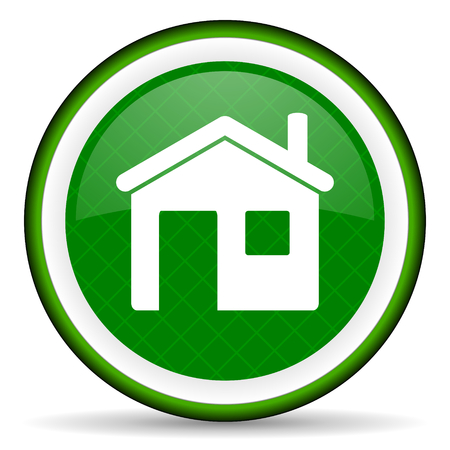 house green icon home sign photo