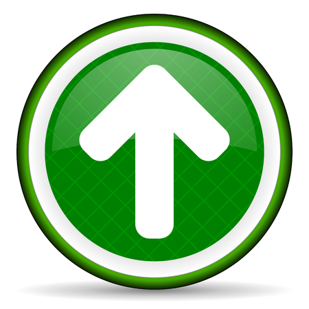 up arrow green icon arrow sign photo
