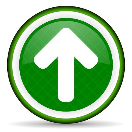 up arrow green icon arrow sign photo