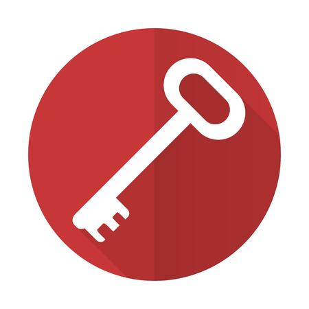 key red flat icon secure symbol photo