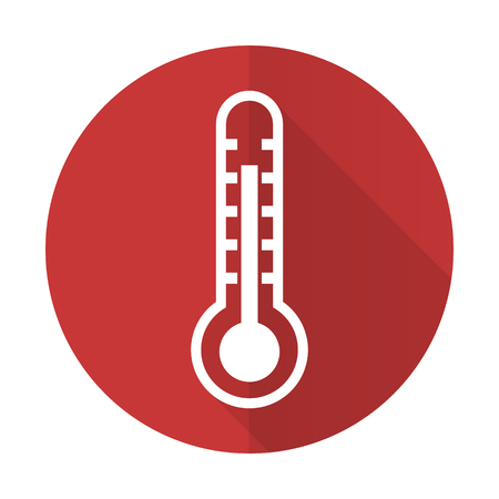 thermometer red flat icon temperature sign photo