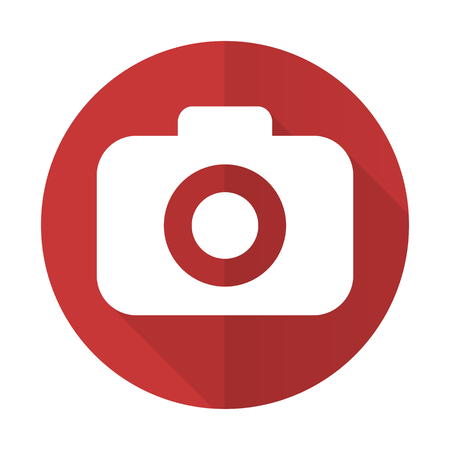 picto: photo camera red flat icon photography sign
