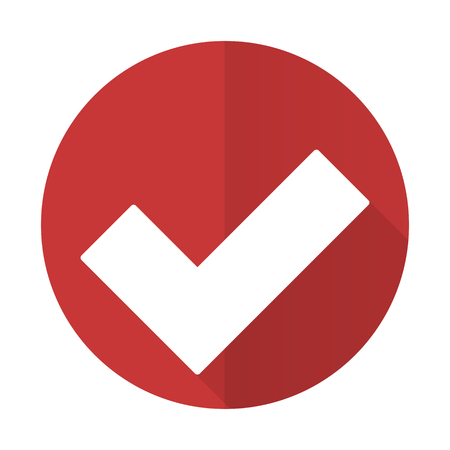 accept red flat icon check sign photo