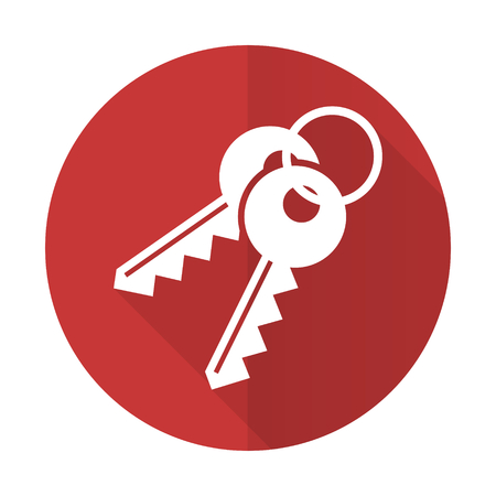 keys red flat icon photo