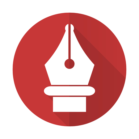 pen red flat icon photo