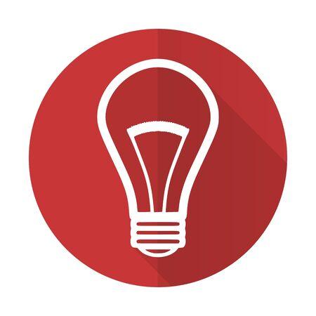 Lampe Rot Flach Symbol Glühbirne Zeichen Lizenzfreie Fotos, Bilder ...