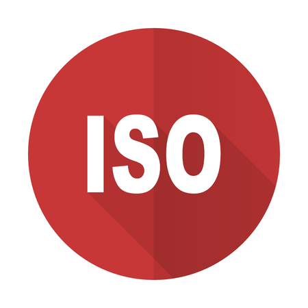 iso: iso red flat icon