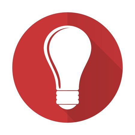 bulb red flat icon idea sign photo