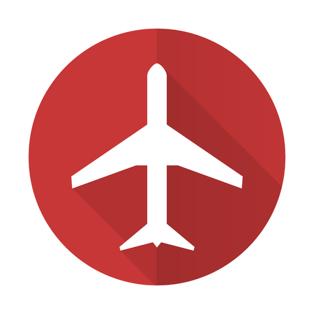 plane red flat icon airport sign photo