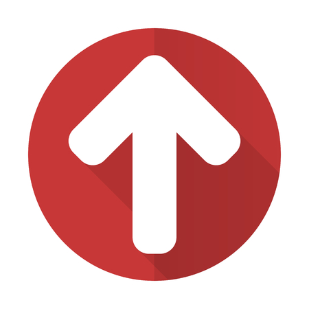 up arrow red flat icon arrow sign photo