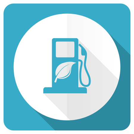 bio fuel: biofuel blue flat icon bio fuel sign