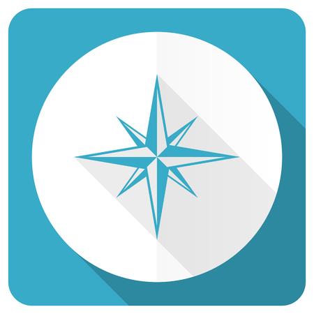 internet explorer: compass blue flat icon