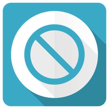 access denied: access denied blue flat icon Stock Photo