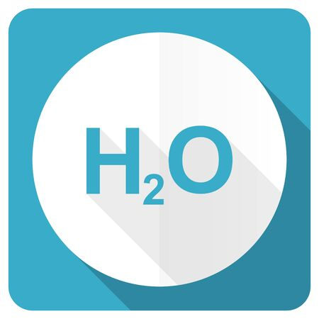 h2o: water blue flat icon h2o sign Stock Photo