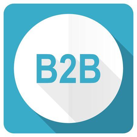 b2b: b2b icono plana azul