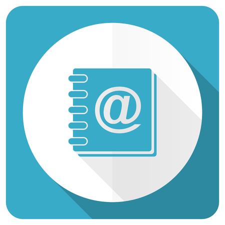 address book: address book blue flat icon Stock Photo