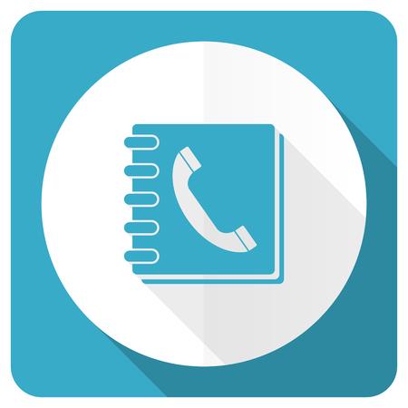 phonebook: phonebook blue flat icon Stock Photo